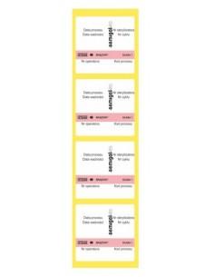 Etykiety (metki) podwójnie przylepne ze wskaźnikiem sterylizacji parowej do autoklawu (sterylizacja narzędzi)